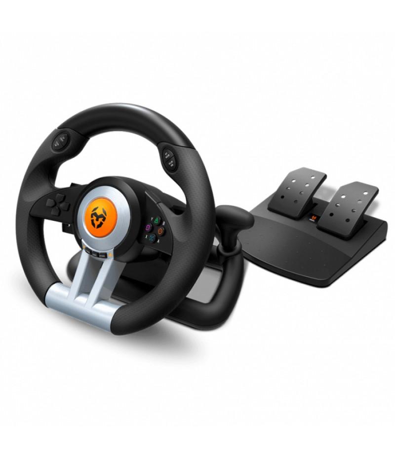 VOLANTE NOX KROM K-WHEEL RACING PC/ PS3/ PS4/ XBOX ONE